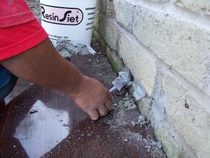 Stuccatura cemento osmotico