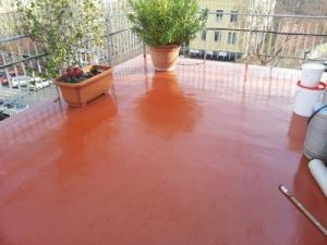 Esempio di pavimento realizzato con resina poliuretanica